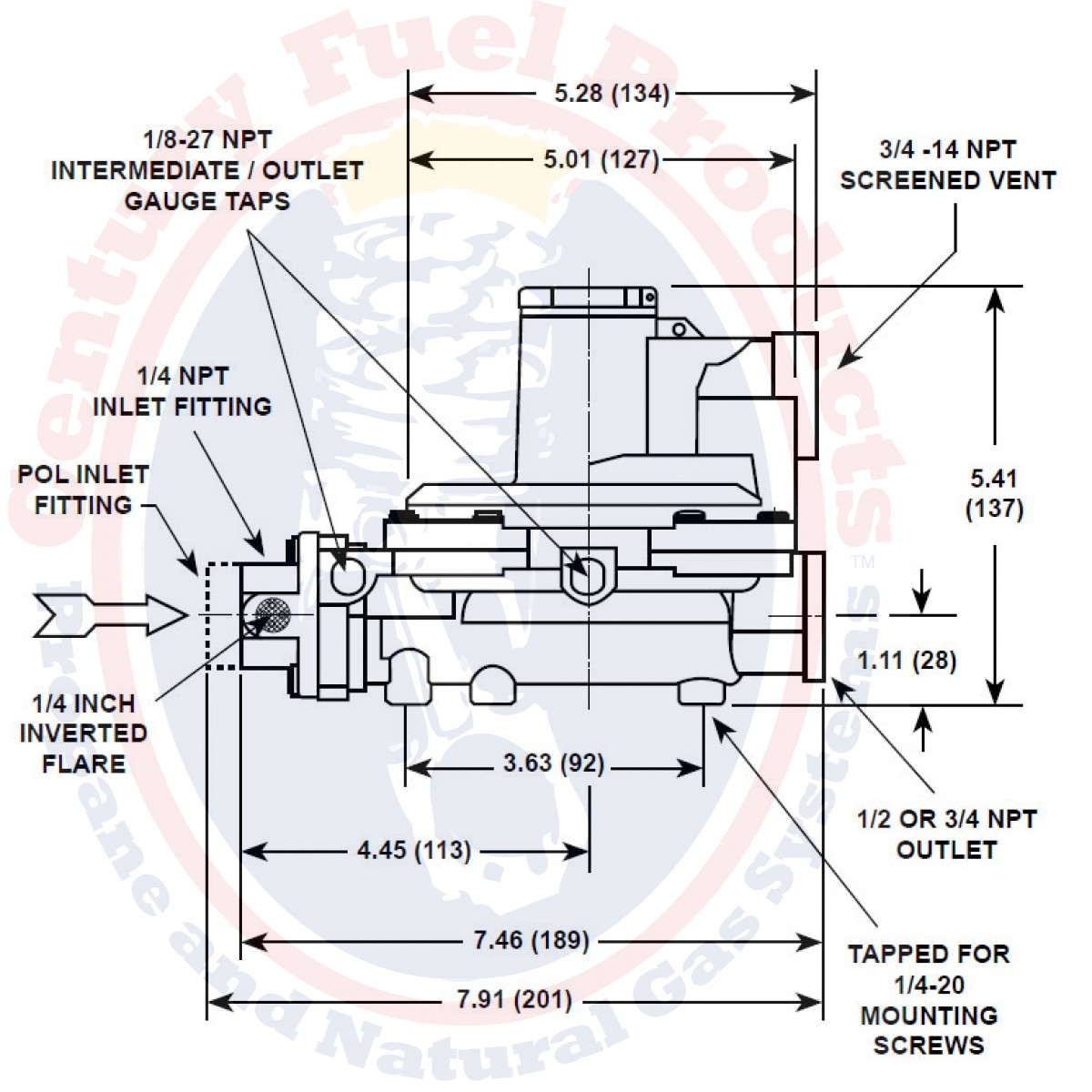 ACC16-01 | Type R632 Integral Two-Stage Regulator