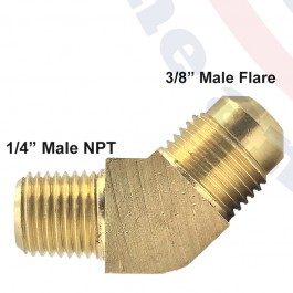 "Fitting 1/4"" MPT x 3/8"" flare"